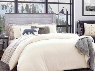 Full Queen Cloud Peak Duvet Cover Set Beige   Eddie Bauer