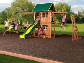 Sportspower Grand Peak Wood Swing Set box 1 of 5
