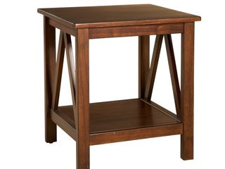 Titian End Table Brown   linon