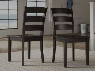Wilmington Ii ladder Back Wood Dining Side Chairs  set Of 2  By Inspire Q