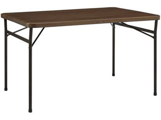 Mainstays 48  Faux Wood Folding Table  Walnut