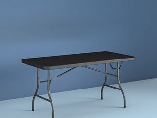 Cosco 6 Foot Centerfold Folding Table  Black