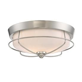 Portfolio Valdara 14 88 in W Brushed Nickel Ceiling Flush Mount light  No Glass