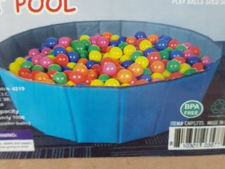 Click N  Play Kids Ball Pit Foldable Play Ball Pool With Storage Bag Balls not included