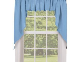 lorraine Home Ribcord Kitchen Curtain Swag pair