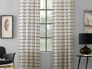 Clean Window Twill Stripe Anti Dust Curtain Panel