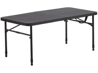 Mainstays 40  Fold in Half Plastic Folding Table  Rich Black
