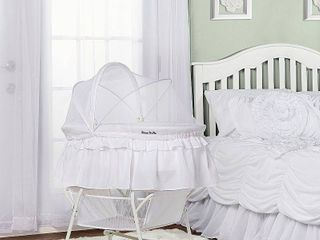 Dream On Me lacy Portable 2 in 1 Bassinet And Cradle  White