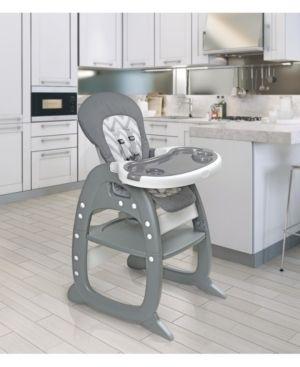 Badger Basket Envee II High Chair Playtable Conversion  Gray Chevron