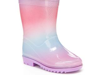 Carter s Sirena Toddler Girls Water Resistant Rain Boots Size 12  Purple