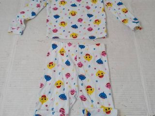 Pink fong 3t baby shark 2pc pajama s  pant measurements  20 in l  8 2 4 in W