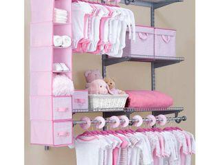 Delta Children 48 Piece Nursery Storage Set  Med Pink