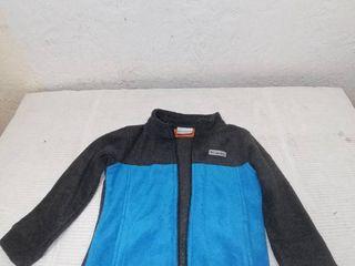 Columbia Sportwear Toddler Boys 4T Fleece Zipper Jacket  Grey and Blue