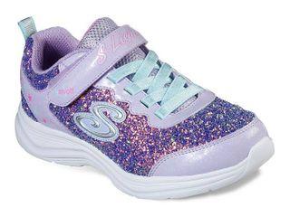 Skechers Girl s S lights   Glimmer Kicks Glitter N Glow lavender   Aqua Ankle High Sneaker 11M riight shoe doesnt light up