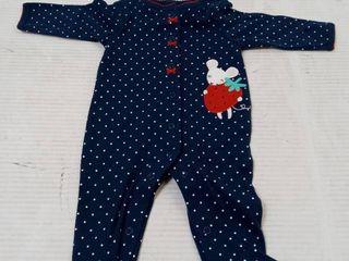 Carter s Infant Girls Sleep n Play Mouse  Size 3 mo  Dark Blue
