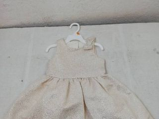 Carters Girls Gold Holiday Dress  3T