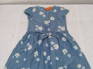 Carters Toddler Girls Blue Daisy Spring Dress  Size 5T