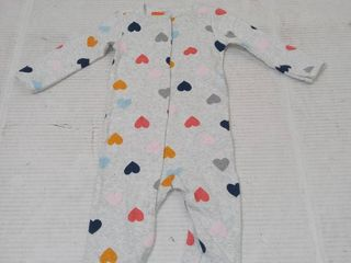 Carters Infant Girls Sleeper  Grey with Hearts  Size 6m