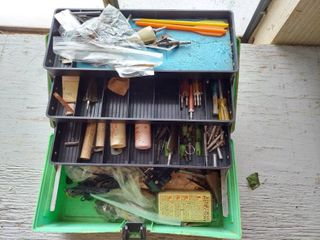 Toolbox with Archery Supplies   Arrow Tips