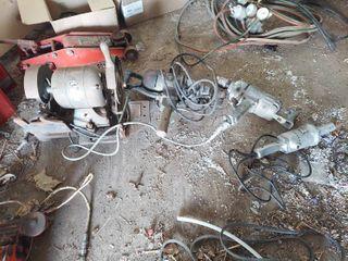 4 Old Power Tools   Grinder  Die Grinder and 2 Drills