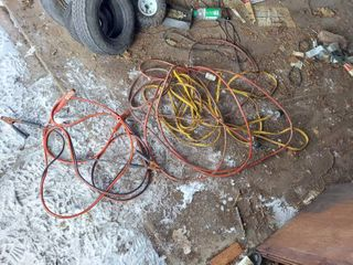 2 Extension Cords and Jumper Cables