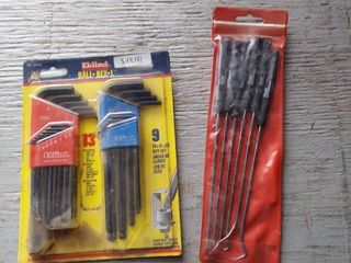 22Pc Ball Hex Wrenches and 6 Pc Hook and Pick Set