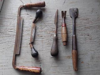 2 Draw Knives and Vintage Tools