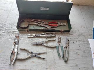 Toolbox with Snap Ring Pliers