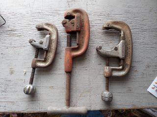 3  Ridgid Pipe Cutters