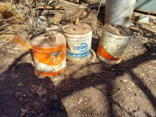 3 Oil Cans   Texaco  Phillips 66 and Coop