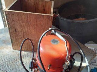 Vacuum Pump in Wood Box