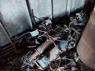 Pile Scrap Metal   Auto Parts