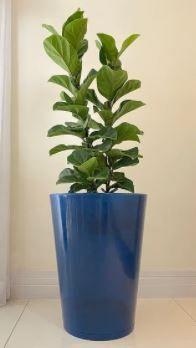 Floridis Genebra Planter Blue Marble 30 inches H