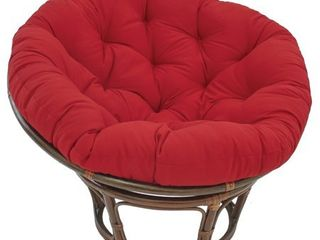 Red  Blazing Needles 48 inch Solid Papasan Cushion  Base Not Included