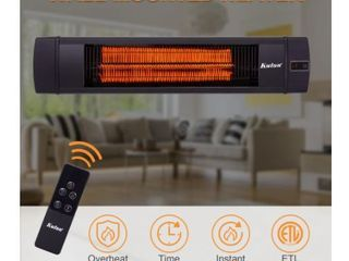 KUTON 1500 W Electric Wall Mounted Patio Heater with Remote Control  Retail 114 99