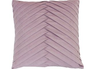 Oversize James Pleated Velvet Square Throw Pillow Purple   DAccor Therapy