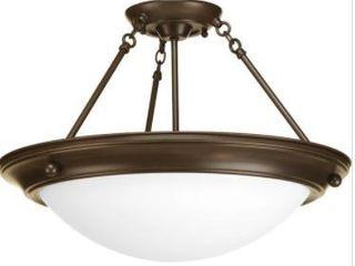 Progress lighting Bronze 3 light Semi Flush light