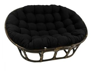 Blazing Needles 65 Inch Solid Double Papasan Cushion  Base not Included