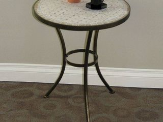 4D Concepts Travertine Round Top Coffee Table