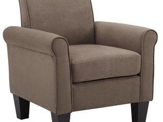 Angelo light Brown Microfiber Fabric Armchair