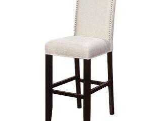 linon Stewart Bar Stool  30 inch Seat Height  Pearl  Multiple Fabrics