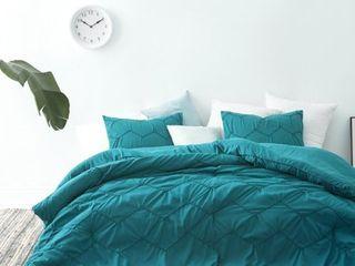 BYB Chevron Waves Supersoft Ocean Depths Teal Queen Comforter Set  Retail 97 49