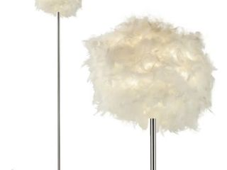 Feather Floor lamp With Polished Chrome