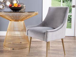 Abbyson Bevie Velvet Dining Chair  Retail 277 77
