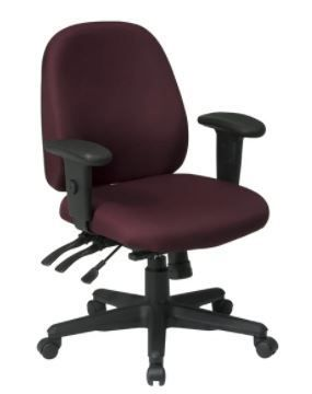 Ergonomics Chair Icon Burgundy