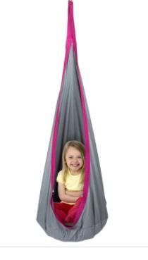 Porch   Den Chicory Kids Padded Hanging Swing Chair Tent Pod
