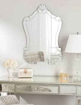 Abbyson Valencia Silver Wall Mirror Silver