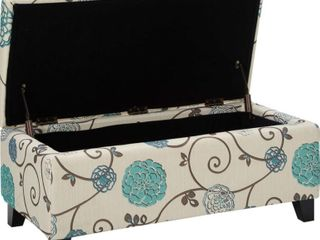 Christoper Knight Home Breanna Floral Fabric Storage Ottoman