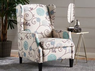 Floral  Wescott Wingback FloralRecliner Club Chair by Christopher Knight Home  Retail 297 49