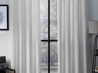 Virenze Faux Silk Window Curtain Panel Pair Winter White   Exclusive Home